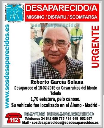 Roberto García Solana. Casarrubios del Monte. Desaparecido. Asociación Sosdesaparecidos